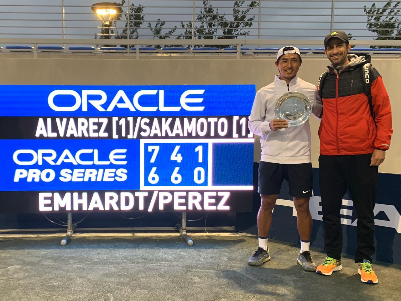Sakamoto é vice de simples e campeão de duplas em Orlando